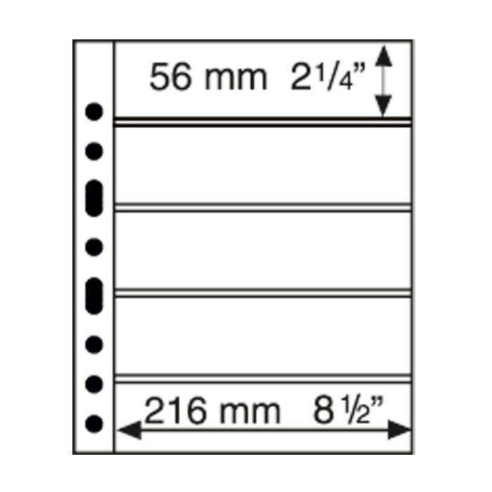 GRANDE listy 5 S - černé (bal. 5 ks)