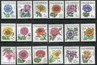 Česká republika - **  Květiny série (18 ks)