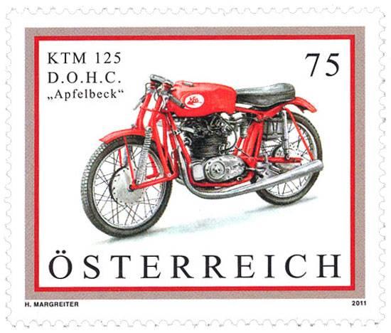 (2011) MiNr. 2914 ** - Rakousko - motocykl - KTM 125 D.O.H.C. Apfelbeck