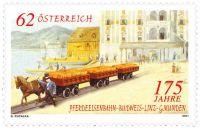 (2011) MiNr. 2922 ** - Rakousko - 175 roků dráhy Budějovice - Linec - Gmunden