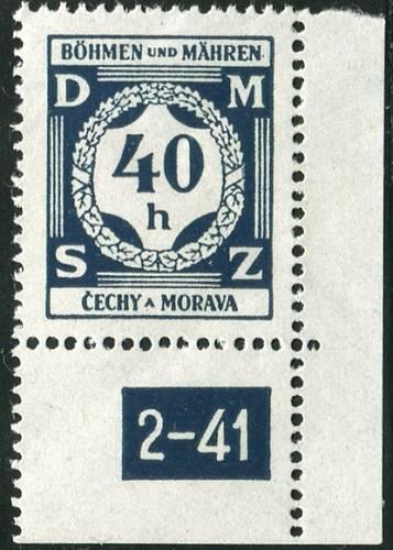 Protektorát Čechy a Morava (1941) č. SL 2 ** - Služební známky