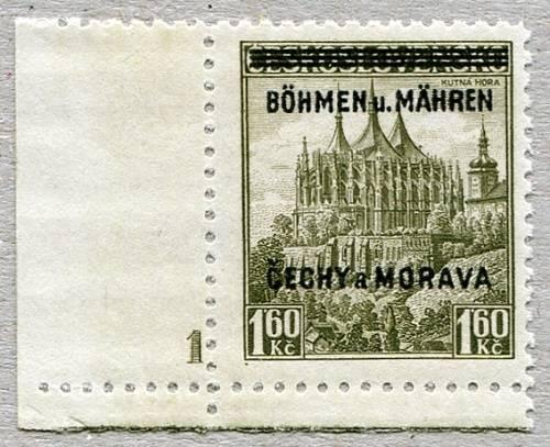 Protektorát Čechy a Morava (1939) č. 13 ** - B.u.M. - přetisková série