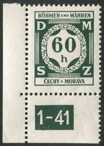 Protektorát Čechy a Morava (1941) č. SL 4 ** - Služební známky