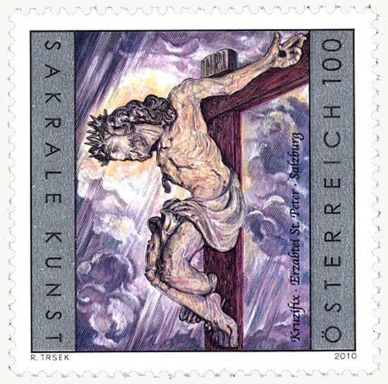 (2010) č. 2892 ** - Rakousko - Kříž v Opatství svatého Petra v Salcburku