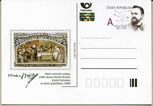 Česká pošta (2011) CDV 134 ** - Václav Brožík