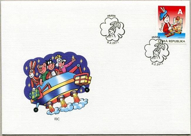 Česká pošta (2011) FDC 672 - Čtyřlístek - Pinďa