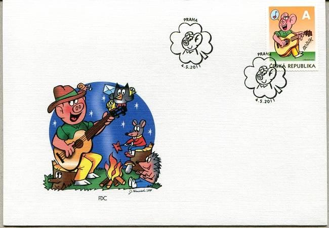 Česká pošta (2011) FDC 681 - Čtyřlístek - Bobík