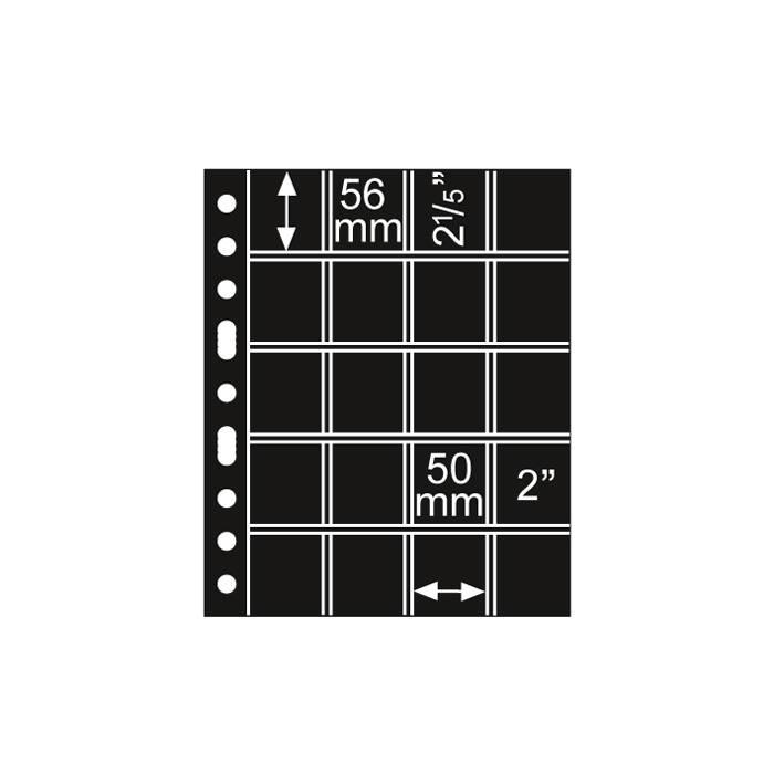 GRANDE listy 5/4 S - černé (bal. 5 ks)