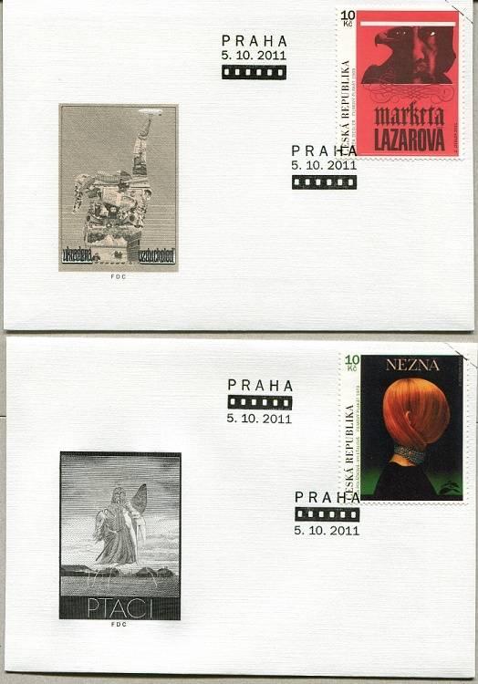 (2011) FDC 699-700 - Český filmový plakát - specimen