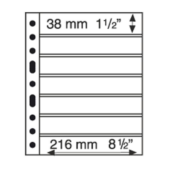 Listy GRANDE listy 7 S - černé (bal. 5 ks)