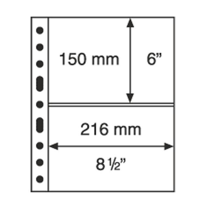 GRANDE listy 2 S - černé (bal. 5 ks) Leuchtturm