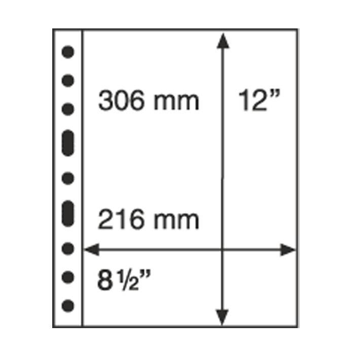 GRANDE listy 1S - černé (bal. 5 ks) Leuchtturm