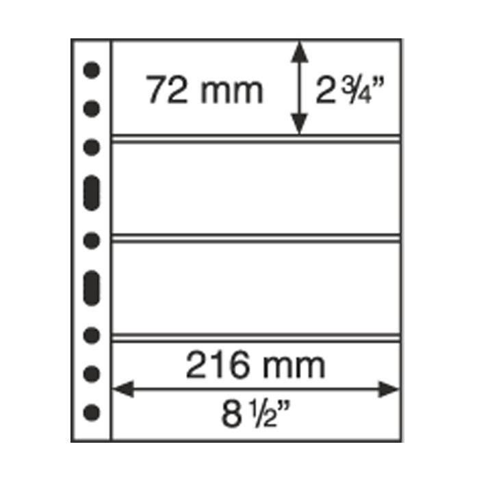 GRANDE listy 4 C - průhledné (bal. 5 ks) Leuchtturm