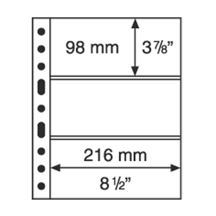 GRANDE listy 3 C - průhledné (bal. 5 ks)
