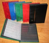 Stock Book - A5, 32 black pages, glassine strips