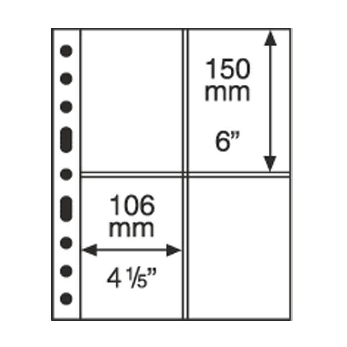 GRANDE listy 2 CT - průhledné (bal. 5 ks)