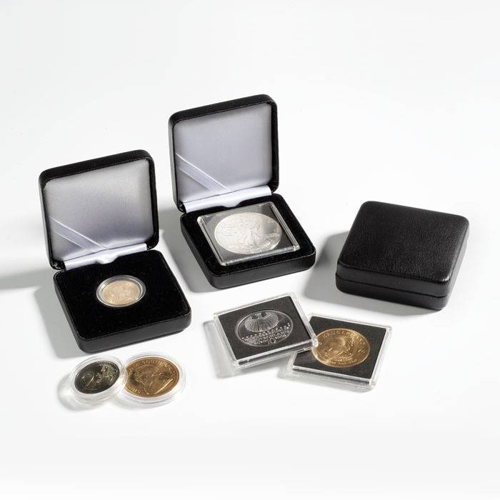 Kovová mincovní etue NOBILE - Ø 32 mm - černá