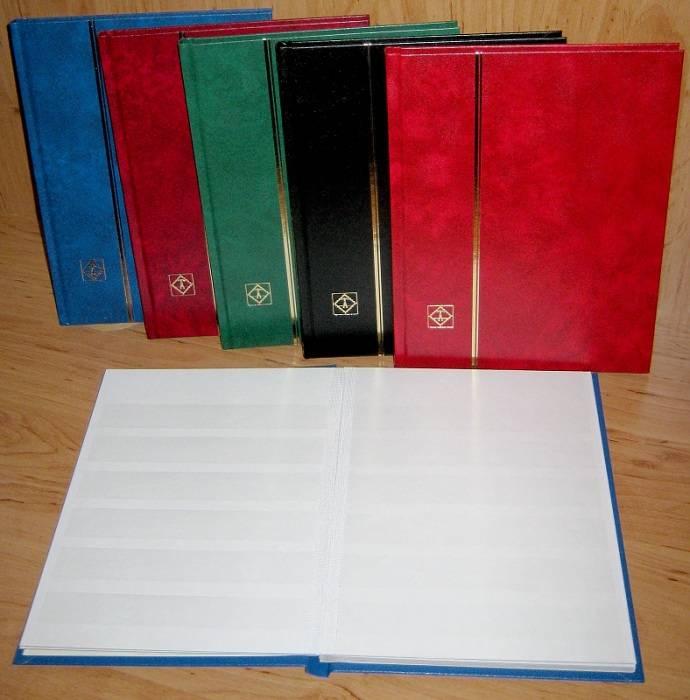 Leuchtturm zásobník na známky BASIC - A4, 32 stran, bílé listy, pergamenové pásky