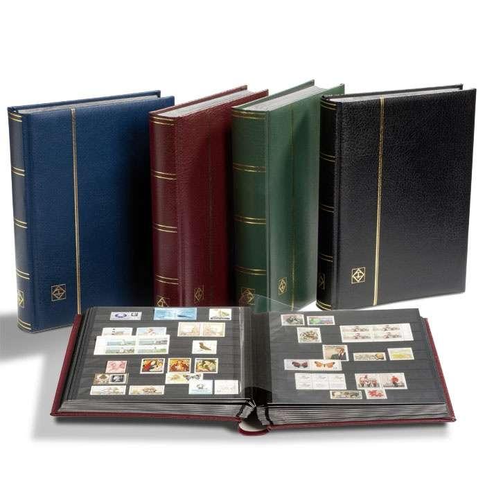 PREMIUM - luxusní zásob. A4 64 stran, kožená * vat. vazba, černé listy