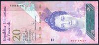 Venezuela (P 91b) - 20 bolivares (24.5.2007) - UNC