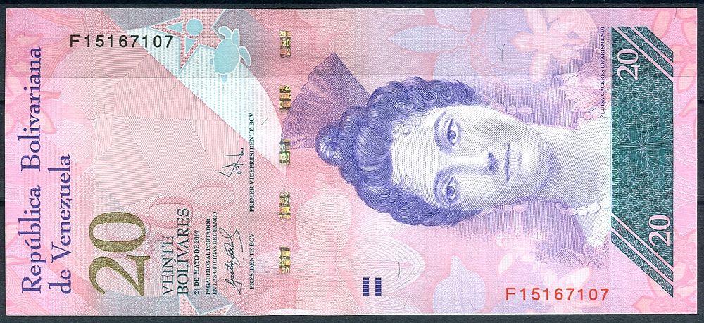 Venezuela (P 91b) - 20 bolivares (2007) - UNC