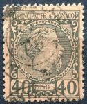 (1885) MiNr. 7 - O - Monako - kníže Charles III.