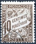 (1909) MiNr. 7 - O - Monako - Portomarken