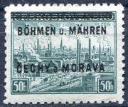(1939) č. 7 ** - B.u.M. - 50 hal. - přetisková série