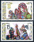 (1998) č. 183 - 184 ** - 11 + 15 Kč - Česká republika - Europa Národní slavnosti