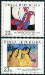 (1998) č. 191 - 192 ** - 22+23 Kč - Česká republika - Umění 1998 I.