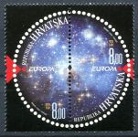 (2009) MiNr. 905 - 906 **- Chorvatsko - Europa: Astronomie