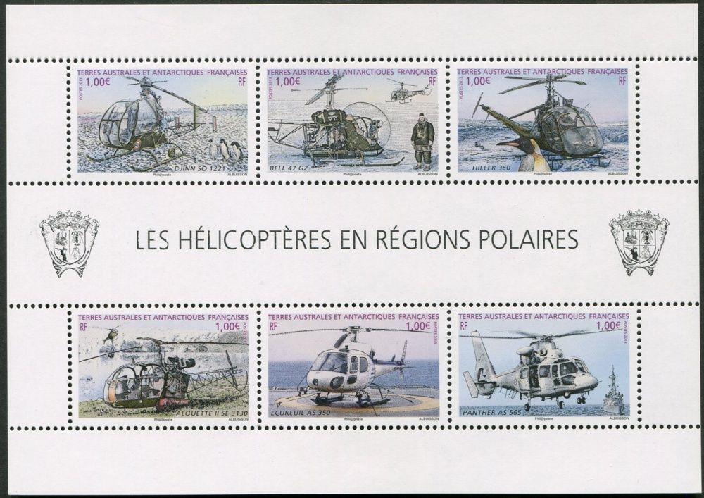 (2013) MiNr. 803 - 808 ** - Francouzská Antarktida - Block 34 - vrtulníky