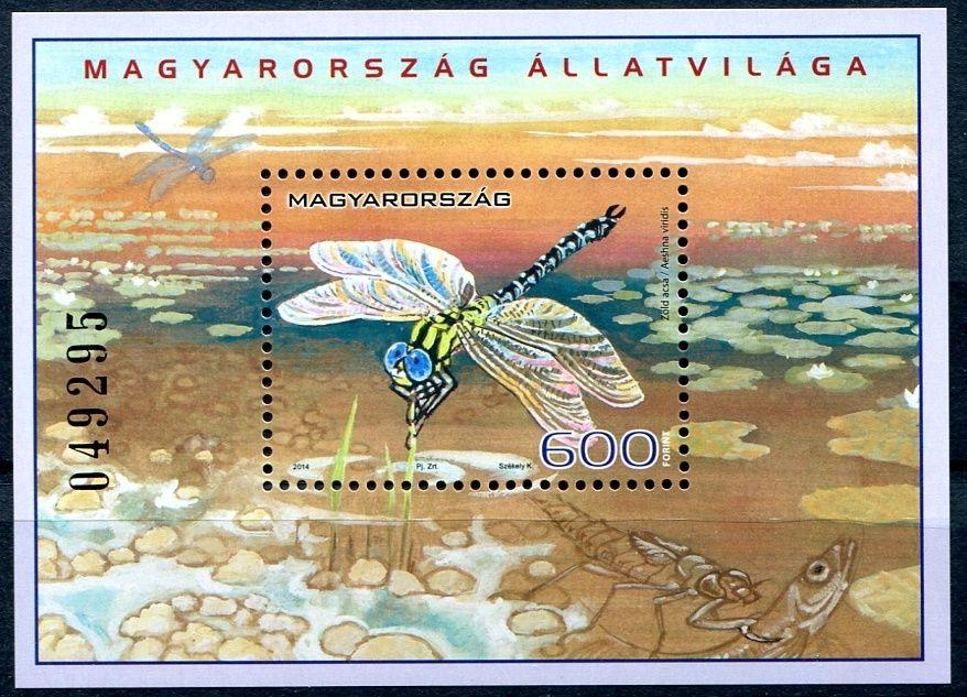 2014) MiNr. 5730 ** - Maďarsko - BLOCK 373 - Domorodá fauna (VIII): Hmyz