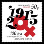 (2015) MiNr. 1465 ** - Island - 100 let hlasovacího práva žen na Islandu