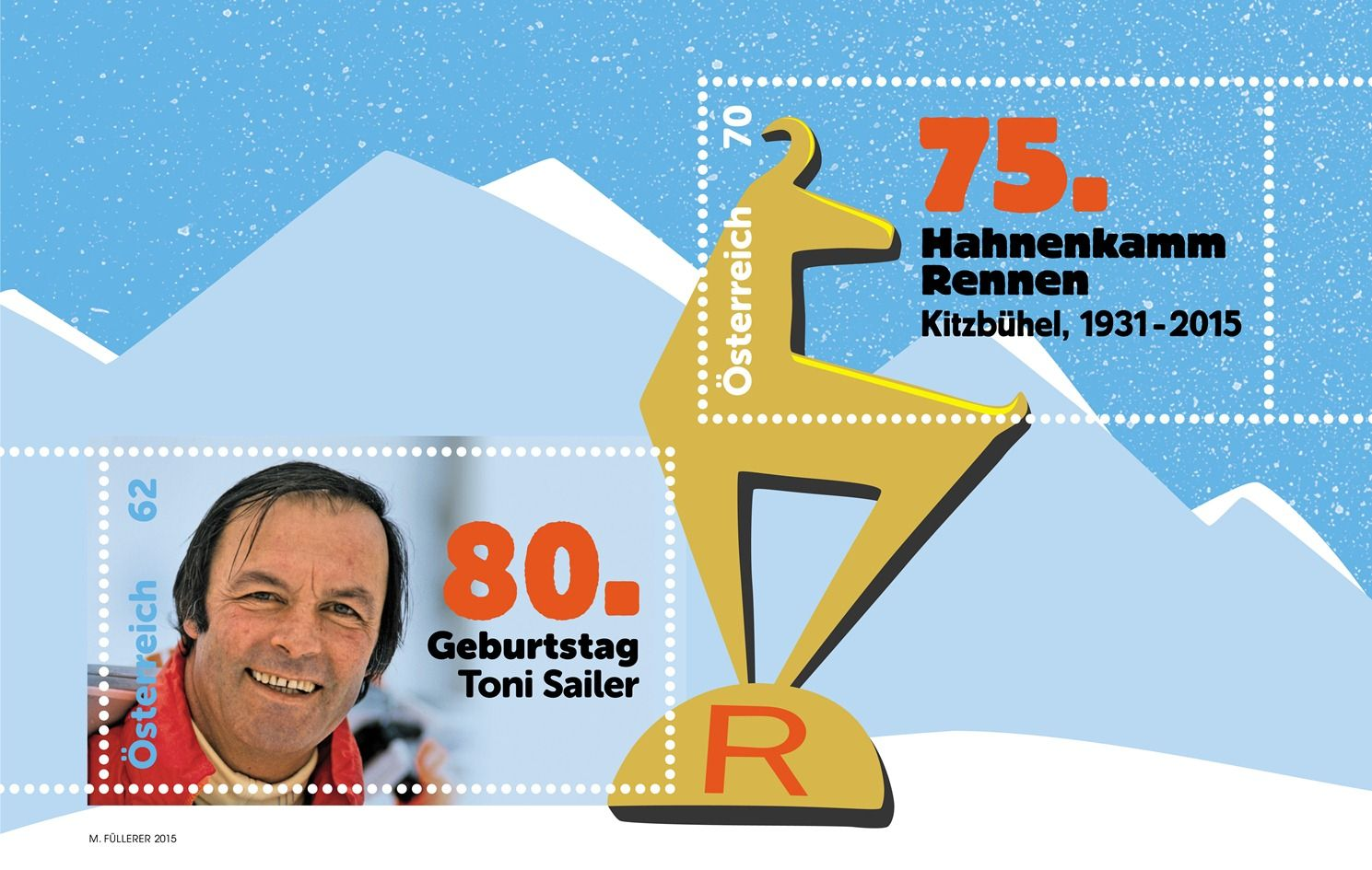 (2015) MiNr. 3177 - 3178 ** - Rakousko - BLOCK 84