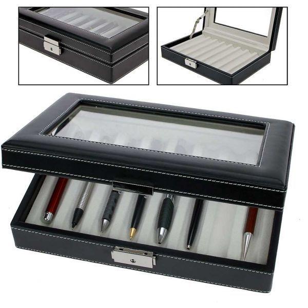 Luxusní kožená kazeta na 8 ks plnících per