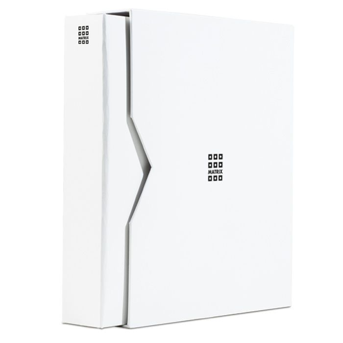 Leuchtturm Matrix - bílé album na mincovní rámečky s 5ti listy a kazetou