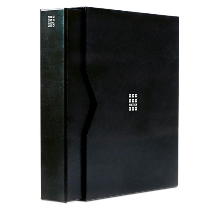 Matrix - černé album na mincovní rámečky s 5ti listy a kazetou