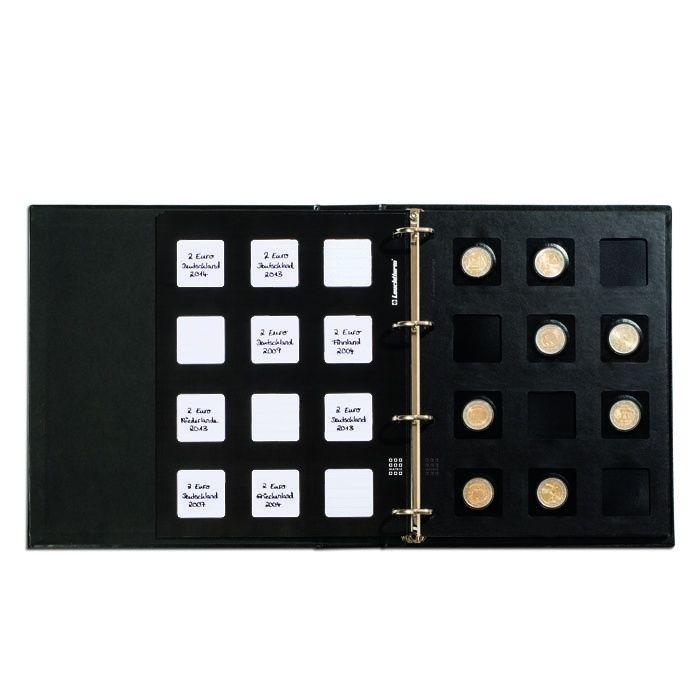 Leuchtturm Matrix černé listy na mincovní rámečky Matrix