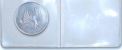 Safe Plastové kapsy na mince dvojité, 50 x 50 mm