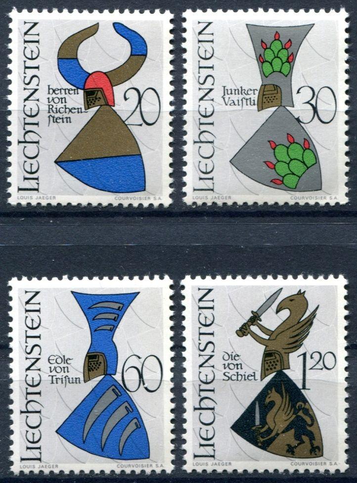 (1966) MiNr. 465 - 468 ** - Lichtenštejnsko - Erby (III.)