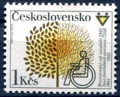 (1981) č. 2468 ** - Československo - Mezinárodní den invalidů