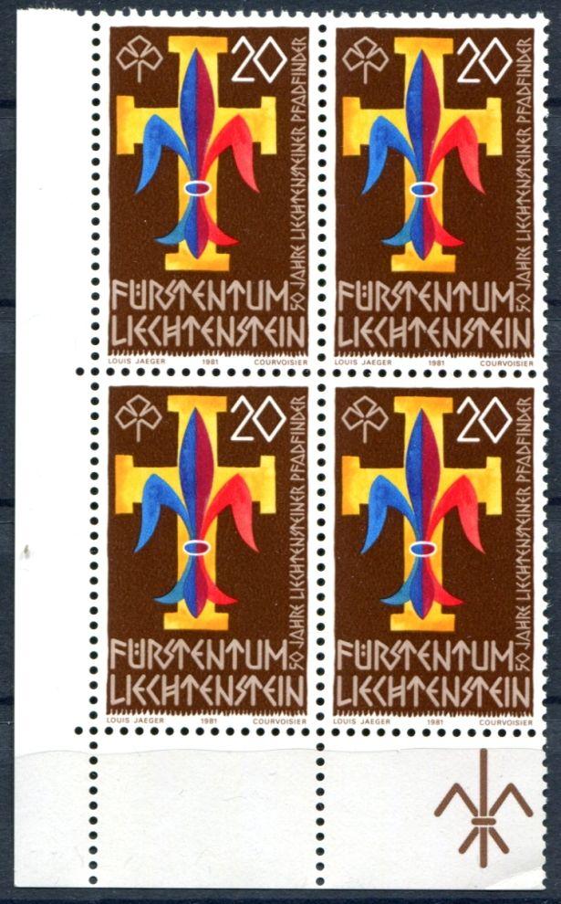 (1981) MiNr. 773 ** - 4-bl - Lichtenštejnsko - Skauting