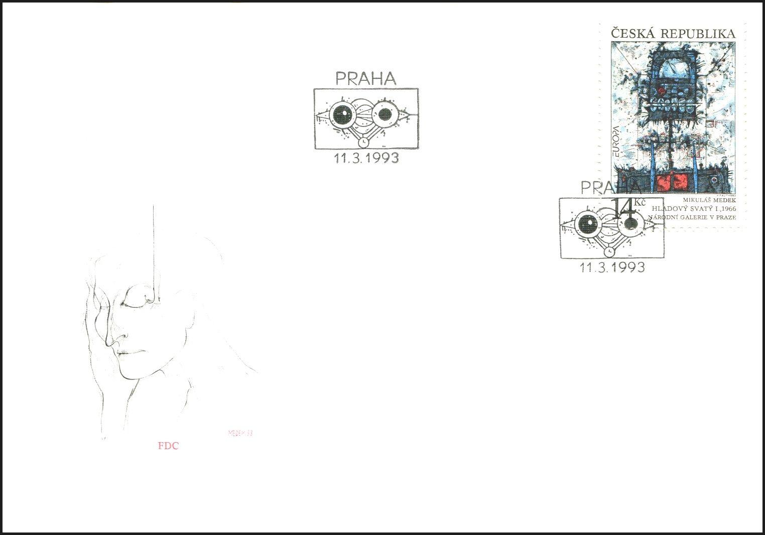 (1993) FDC 5 - EUROPA - Hladový svatý