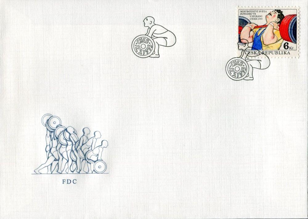 (1993) FDC 8 - MS juniorů ve vzpírání