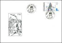 (1997) FDC 153 - 155  - Český kreslený humor