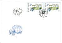(1997) FDC 159 - 161 - Historická, užitková vozidla (3)