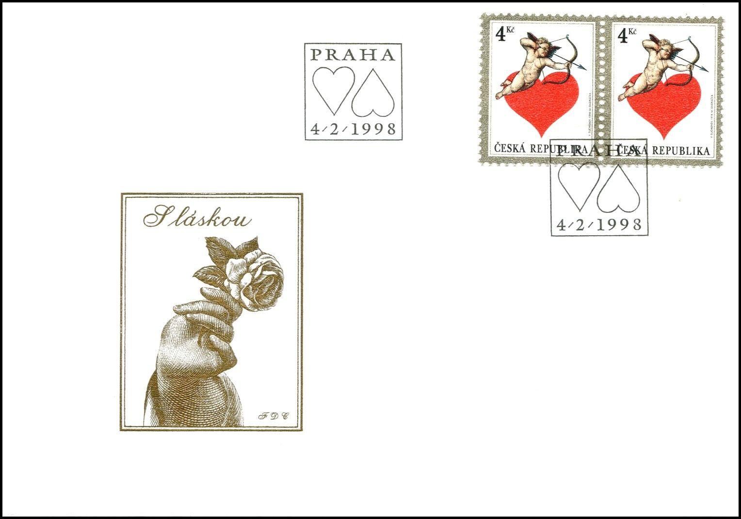 Česká pošta (1998) FDC 169 - Láska