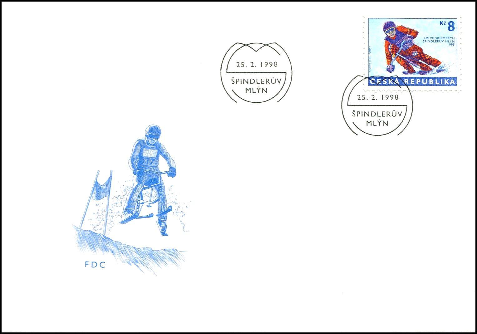 (1998) FDC 170 - MS ve skibobech