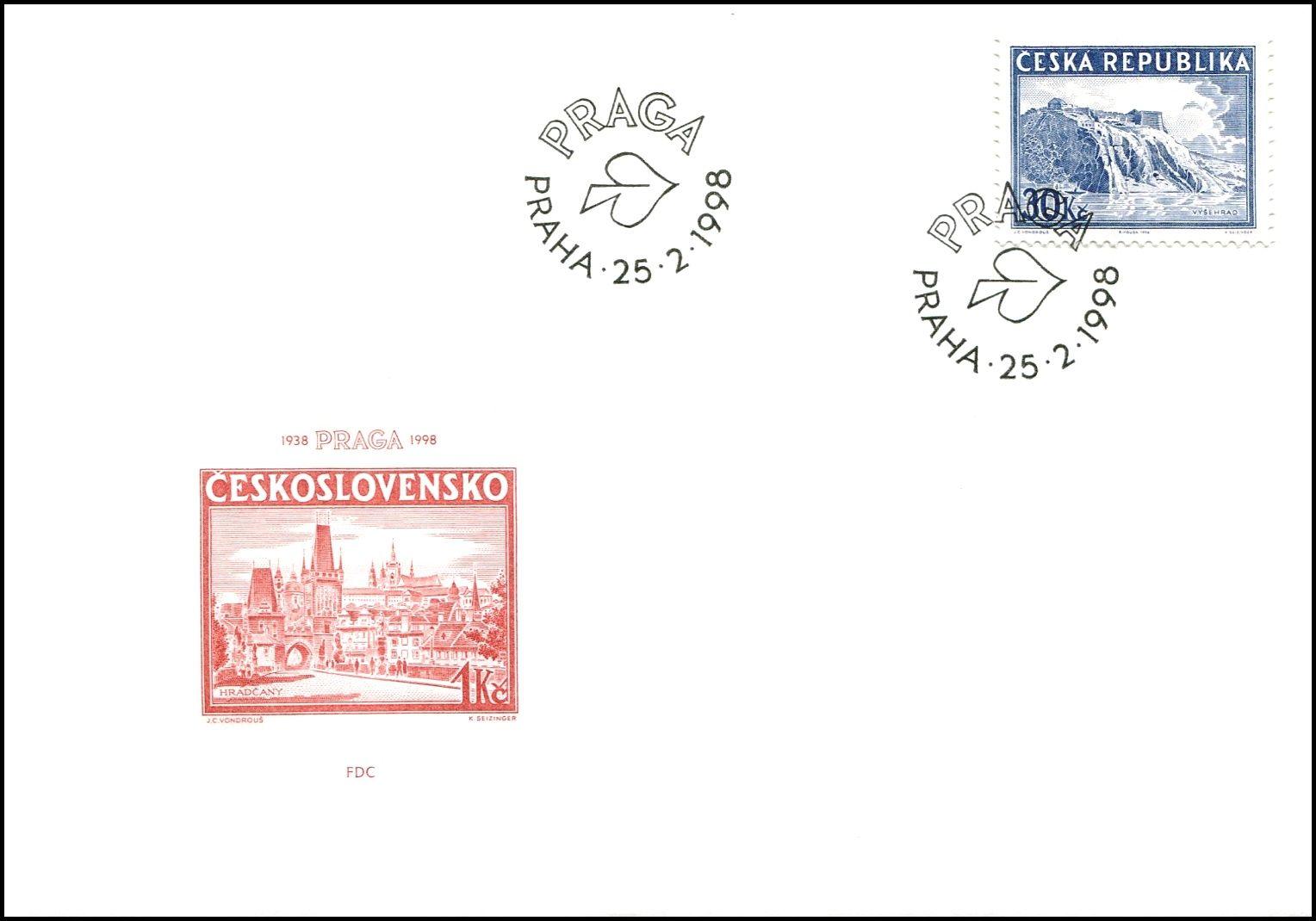 Česká pošta (1998) FDC 171 - Historie výstav - Praga 1998